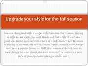 Upgrade your style for the fall season