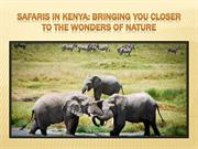 Safaris in Kenya Bringing You Closer to the Wonders of Nature