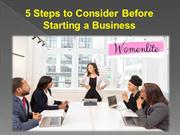 5 Steps to Consider Before Starting a Business