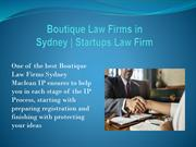 Boutique Law Firms in Sydney  Startups Law Firm