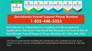 Quickbooks Payroll Support Phone Number   1-855-448-5353