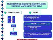 MULTIPLYNG  3-DIGIT BY 1-DIGIT NUMBERS S