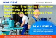 Mechanical Engineering Laboratory Instruments Exporters In India