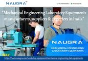 Mechanical Engineering Lab Equipments Exporters in India