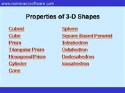 3-D Shapes