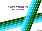TIBCO BW Questions and Answers
