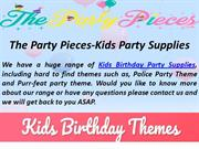 Kids birthday party themes Supplies, Decorations for boys and Girls