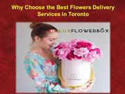Why Choose the Best Flowers Delivery Services in Toronto