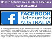 How To Retrieve Your Disabled Facebook Account Instantly