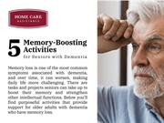 5 Memory-Boosting Activities for seniors with Dementia