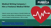 Medical writing company | Hire a Freelance Medical Writer