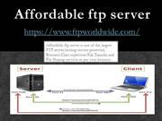 FTP Worldwide - affordable ftp server