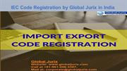 Import Export Code Services Global Jurix in India