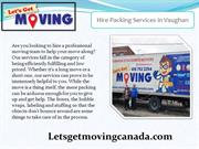 Hire Packing Services in Vaughan