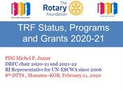 The Rotary Foundation Programs and Grants 2020 - light version