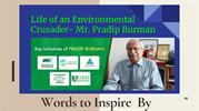 Pradip Burman Words to Inspire For Sustainable Development in India