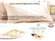 How to make the Right Choice of Pillow