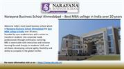 Best MBA college in India - Narayana Business School Gujarat,India