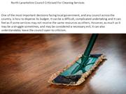 North Lanarkshire Council Criticised For Cleaning Services