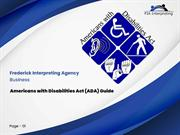 Fredric Interpreting - Americans With Disabilities Act (ADA) Guide - O