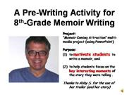 A Multi-Media Pre-Writing Project