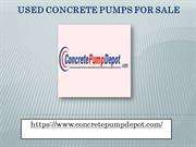 Used Concrete Pumps for Sale