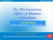 Try The Luxurious Office At Bhutani Cyberthum