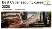 Best Cyber security career 2020-infosavvy