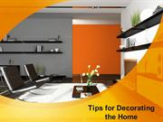 Useful Tips for Decorating the Home