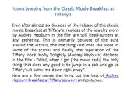 Audrey hepburn breakfast at tiffany's jewelry