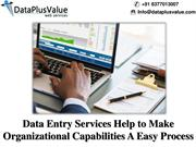 Great Things About Data Entry for Organization