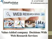 The Various Web Research Services You Can  Get