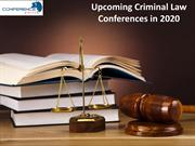 Upcoming Criminal Law Conferences in 2020