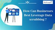 How Can Businesses Best Leverage Data scrubbing ?