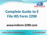 IRS Form 2290 Online | Heavy Vehicle Use Tax 2020