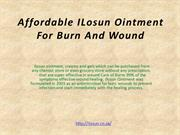 Affordable ILosun Ointment For Burn And Wound