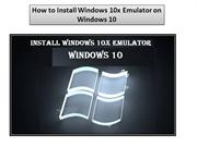 How to Install Windows 10x Emulator on Windows 10