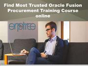 Find Most Trusted Oracle Fusion Procurement Training Course online