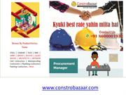 Construction Materials Online at ConstroBazaar