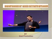 Significance of Good Keynote Speaker