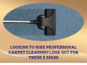 Looking to Hire Professional Carpet Cleaning Look Out For These 3 Sign