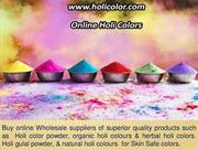 Eco friendly colours for holi - Safe for Skin