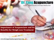 Reasons to Try Acupuncture for Weight Loss