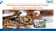 Selecting a Programming Language to build Selenium Test Automation Sui