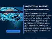 China-based electronics manufacturing services