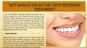 Why Should you go for Teeth Whitening Treatment