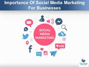 Importance Of Social Media Marketing For Businesses