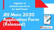 JEE Main 2020 Application Form (Released)