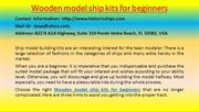 Learn How to Start WOODEN MODEL SHIP KITS FOR BEGINNERS