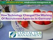 How Technology Changed The Working Of Recruitment Agencies In Germany